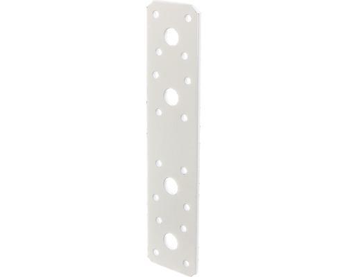 Flachverbinder 180 x 40 mm, weiß kunststoffbeschichtet, 1 Stück