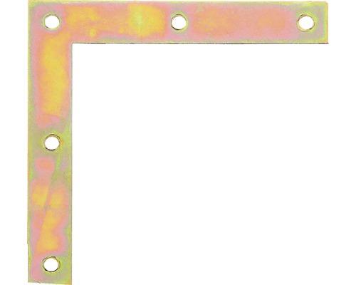 Möbelwinkel 100 x 100 x 10 mm, galv. gelb verzinkt, 1 Stück