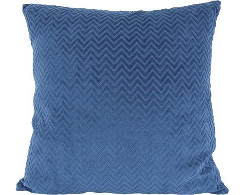 Kissen Zikzak 43x43cm blau