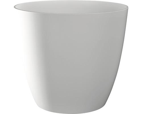 Übertopf Ella Ø 10 cm H 9 cm weiß glänzend
