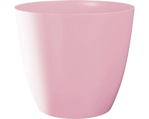 Übertopf Ella Ø 15 cm H 13,4 cm rosa glänzend