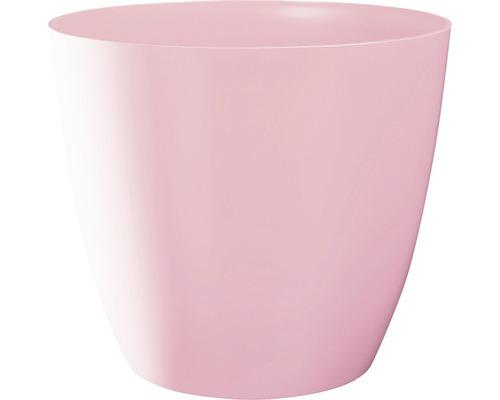 Übertopf Ella Ø 18 cm H 16 cm rosa glänzend