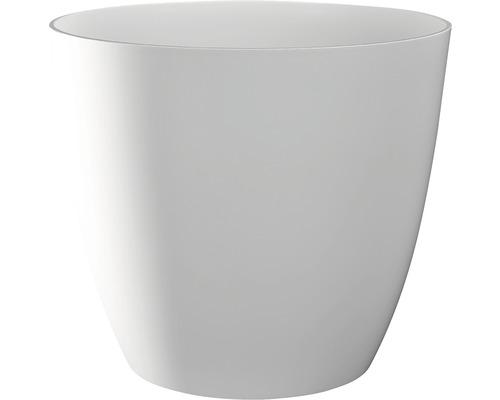 Übertopf Ella Ø 18 cm H 16 cm weiß glänzend