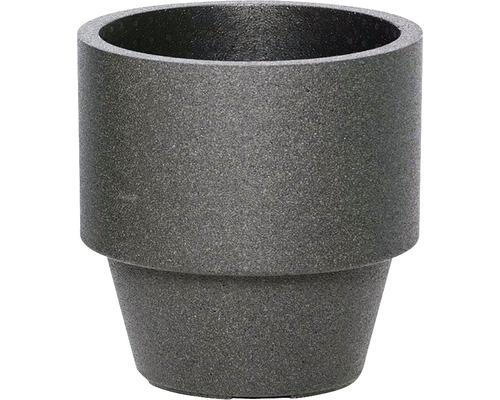 Übertopf iQ Dutch Design Rund Ø 38/25 cm H 38 cm Kunststoff schwarz
