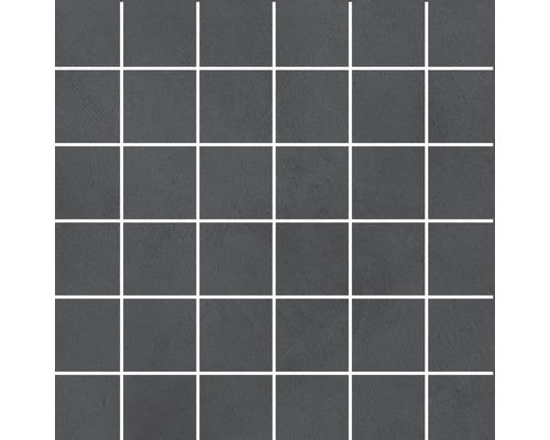 Feinsteinzeug Mosaik Cementine anthrazit 30 x 30 cm R10B