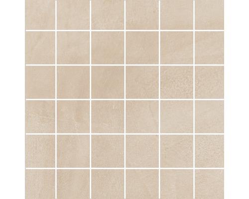 Feinsteinzeug Mosaik Cementine creme 30 x 30 cm R10B
