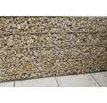 Fertiggabione 100 x 50 x 50 cm gefüllt mit Gabionensteinen Rosso Verona 70-120 mm