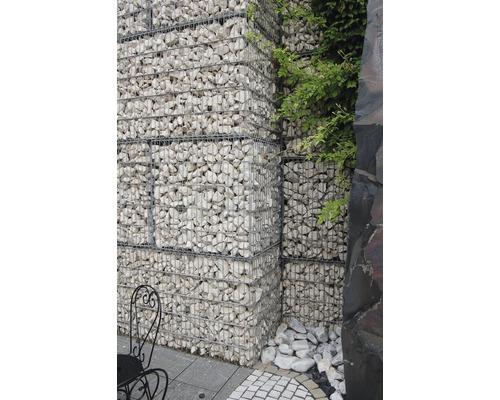 Fertiggabione 100 x 50 x 50 cm gefüllt mit Gabionensteinen Giallo Mori 70-120 mm