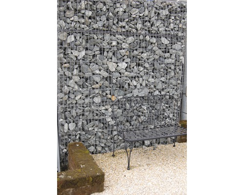 Fertiggabione 100 x 50 x 100 cm gefüllt mit Gabionensteinen Verde Alpi 70-120 mm