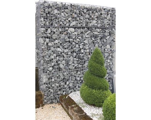 Fertiggabione 100 x 25 x 50 cm gefüllt mit Gabionensteinen Verde Alpi 70-120 mm
