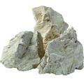 Fertiggabione 100 x 25 x 100 cm gefüllt mit Gabionensteinen Bianco Zandobbio 70-120 mm