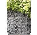 Fertiggabione 100 x 25 x 100 cm gefüllt mit Gabionensteinen Nero Ebano 70-120 mm