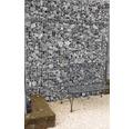 Fertiggabione 100 x 25 x 100 cm gefüllt mit Gabionensteinen Verde Alpi 70-120 mm