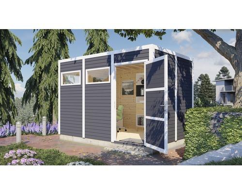 Gartenhaus Cubo 3 mit Fußboden 337 x 234 cm anthrazit