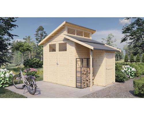 Gerätehaus Konsta Studio Set 2 mit Fußboden 290 x 202 cm natur