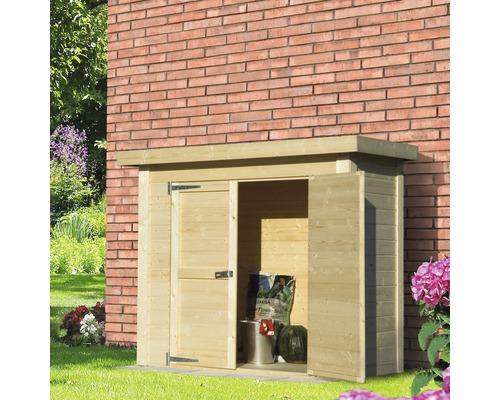 Wandschrank Classic mit Fußboden 160x77x135 cm natur
