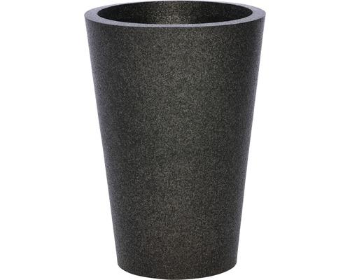 Pflanzgefäß iQ Dutch Design Konisch Ø 48/33,5 cm H 69,5 cm Kunststoff schwarz
