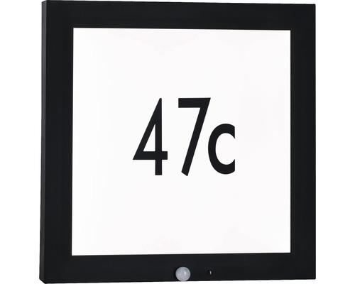 LED Sensor Outdoor Panel IP44 13W 870 lm 3000 K warmweiß HxBxT 400x400x40 mm anthrazit-weiß Hausnummernleuchte