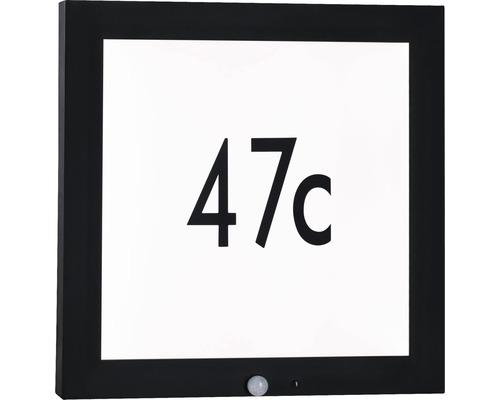 LED Sensor Outdoor Panel IP44 13W 870 lm 3000 K warmweiß HxBxT 400x400x40 mm anthrazit-weiß Hausnummernleuchte