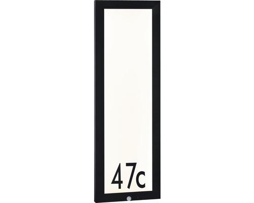 LED Sensor Outdoor Panel IP44 19W 1800 lm 3000 K warmweiß HxBxT 900x300x40 mm anthrazit-weiß Hausnummernleuchte