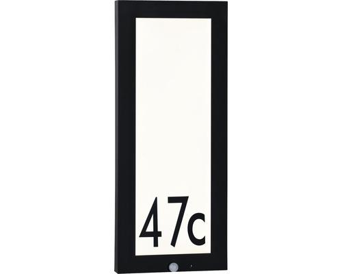 LED Sensor Outdoor Panel IP44 10W 900 lm 3000 K warmweiß HxBxT 600x250x40 mm anthrazit-weiß Hausnummernleuchte