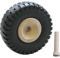 Holzrad Bully mit Gummibereifung, 72 x 27 mm