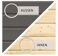 Saunahaus Woodfeeling Turmalin 1 inkl.9kW Bio Ofen u.ext.Steuerung ohne Vorraum und Fenster mit Holztüre und Isolierglas wärmegedämmt anthrazit/weiß