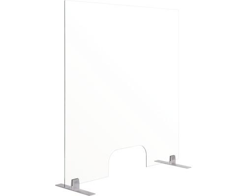 Rahmenloser Thekenaufsatz Hygieneschutz Glas 120x90 cm