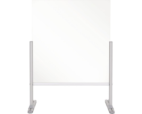 Thekenaufsatz Hygieneschutz Glas silber 65x85x42 cm