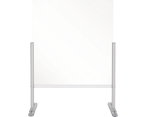 Thekenaufsatz Hygieneschutz Glas silber 85x85x42 cm