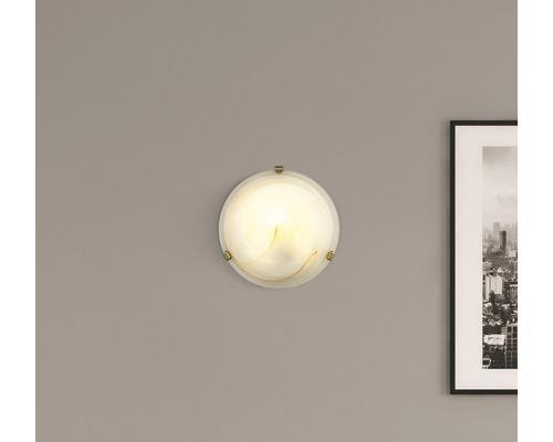 Deckenleuchte 1-flammig Ø 300 mm Mauritius weiß/braun/marmoriert