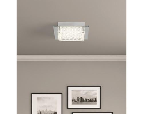 LED Deckenleuchte 12W 1200 lm 3000 K warmweiß 250x250 mm Larina chrom