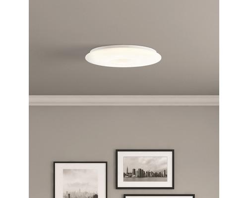 LED Deckenleuchte CCT 60W 4800 lm 3000K-6000K warmweiß-tageslichtweiß Kennie chrom/weiß HxØ 85/495 mm mit Fernbedienung + Nachtlichtfunktion