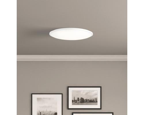 LED Deckenleuchte CCT 30W 2000 lm 3000-6500 K warmweiß-tageslichtweiß Plana weiß HxØ 70/500 mm mit Fernbedienung