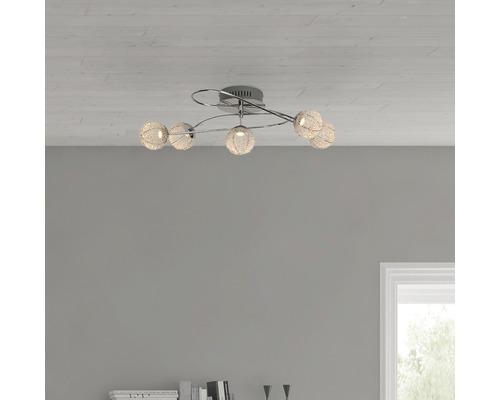 LED Deckenleuchte 5x5W 5x400 lm 3000 K warmweiß B 400 mm Dajana chrom