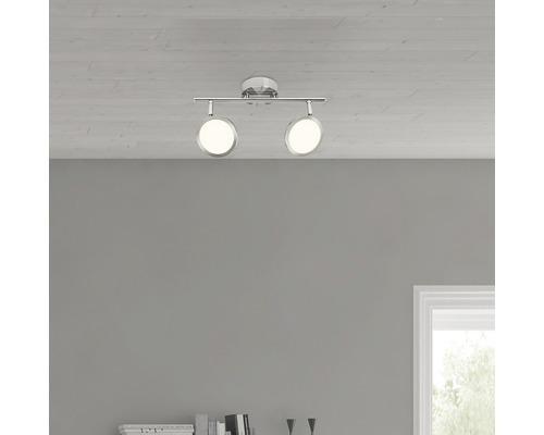 LED Wandleuchte 2x5W 2x500 lm 3000 K warmweiß B 315 mm Pluto eisen/weiß