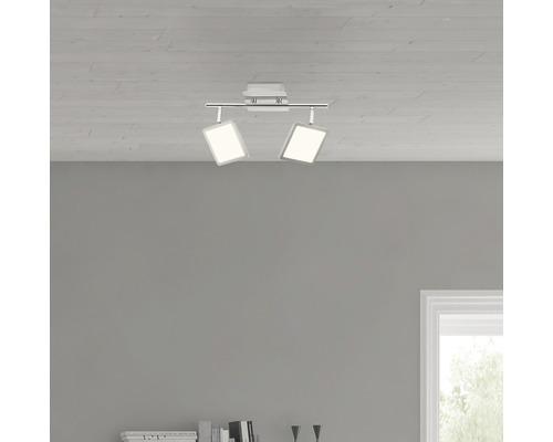 LED Deckenleuchte 2x5W 2x500 lm 3000 K warmweiß B 315 mm Uranus eisen/weiß