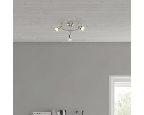 LED Wandspot 3x3W 3x250 lm 3000 K warmweiß Ø 240 mm Loona satin/nickel