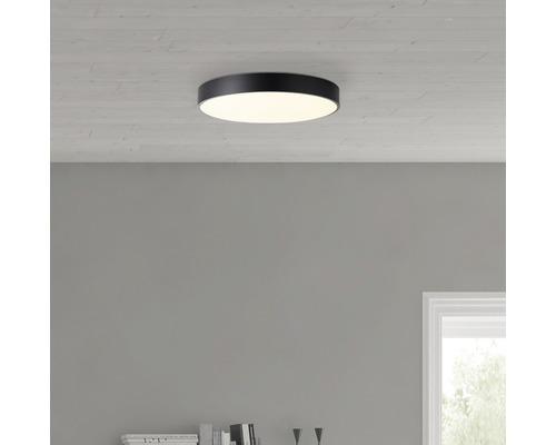 LED Deckenleuchte CCT dimmbar 60W 4800 lm 3000-6500 K warmweiß-tageslichtweiß Slimline weiß/schwarz HxØ 85/490 mm mit Fernbedienung