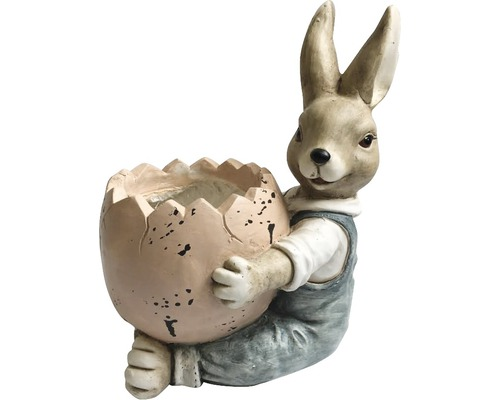 Hase mit Osterei Junge 30,5 x 23 x 56 cm
