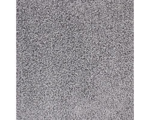 Teppichboden Velours Charisma steingrau 500 cm breit (Meterware)