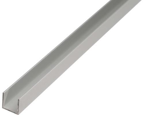U-Profil Alu silber eloxiert 8x15x8x1,5 mm, 1 m