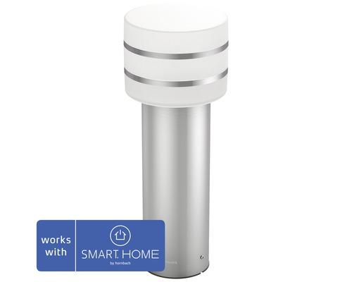 Philips Hue White Sockelleuchte IP44 9W 806 lm 2700 K warmweiß H 400 mm Tuar edelstahlfarben - kompatibel mit SMART HOME by hornbach