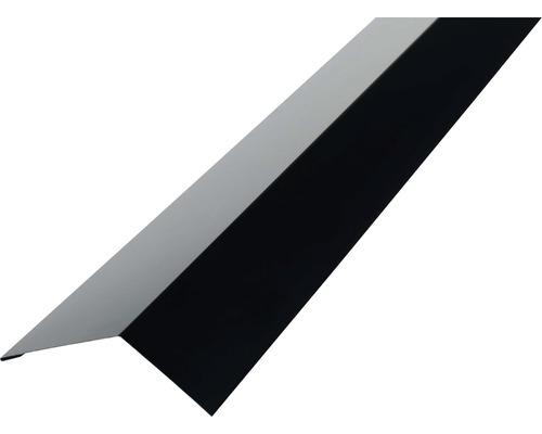 PRECIT Rinneneinhang für Trapezblech H12 RAL 9005 jet black 2000 x 83 x 65 mm
