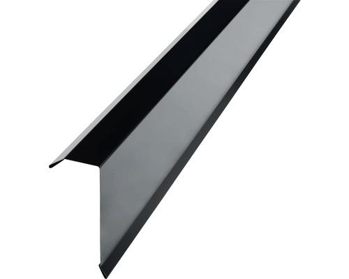 PRECIT Kantenwinkel für Trapezbleche H12 jet black RAL 9005 1000 x 40 x 100 mm (Materialstärke = 0,5 mm)