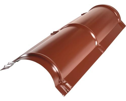 PRECIT Firstblech halbrund oxide red RAL 3009 1000 x 114 x 280 mm