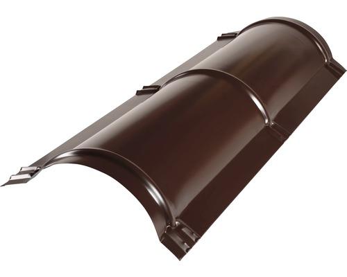 PRECIT Firstblech halbrund chocolate brown RAL 8017 1000 x 114 x 280 mm