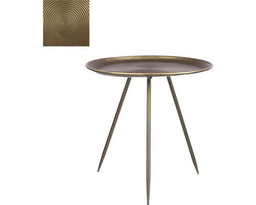 Beistelltisch Mica Aida H 51 cm Ø 51,5 cm gold