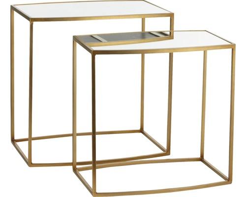 Beistelltisch 2-er Set Casa Vivante Libra 56 x 37 x 56 cm gold