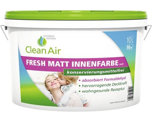 Clean Air GESÜNDER WOHNEN Fresh Matt Innenfarbe Wandfarbe konservierungsmittelfrei weiß 10 l